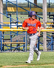 Cortland Crush Alex Flock (10) jogging in to score a run against the Rome Generals in New York Collegiate Baseball League action at Larry Delutis Field in Rome, New York on Saturday, June 22, 2019. Cortland won 16-9.