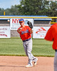 Cortland Crush Anthony Cieszko (3) throwing the ball against the Rome Generals in New York Collegiate Baseball League action at Larry Delutis Field in Rome, New York on Saturday, June 22, 2019. Cortland won 16-9.