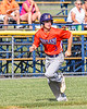 Cortland Crush Anthony Cieszko (3) running into to score against the Rome Generals in New York Collegiate Baseball League action at Larry Delutis Field in Rome, New York on Saturday, June 22, 2019. Cortland won 16-9.