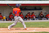 Cortland Crush Dylan Nolan (14) blasts a Home Run against the Rome Generals in New York Collegiate Baseball League action at Larry Delutis Field in Rome, New York on Saturday, June 22, 2019. Cortland won 16-9.