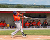 Cortland Crush Kam Holland (43) hits the ball against the Rome Generals in New York Collegiate Baseball League action at Larry Delutis Field in Rome, New York on Saturday, June 22, 2019. Cortland won 16-9.