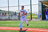 Cortland Crush Stephen Bennett (30) being introduced before playing the Syracuse Salt Cats in a New York Collegiate Baseball League game at Gutchess Lumber Sports Complex in Cortland, New York on Sunday, June 23, 2019.