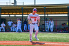 Cortland Crush Alex Flock (10) being introduced before playing the Syracuse Salt Cats in a New York Collegiate Baseball League game at Gutchess Lumber Sports Complex in Cortland, New York on Sunday, June 23, 2019.