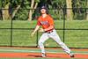 Cortland Crush Stephen Bennett (30) tracks a hit ball against the Syracuse Salt Cats in New York Collegiate Baseball League action at OCC Turf Field in Syracuse, New York on Wednesday, June 26, 2019. Syracuse won 7-2.