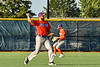 Cortland Crush Brad Nowak (35) throwing the ball against the Syracuse Salt Cats in New York Collegiate Baseball League action at OCC Turf Field in Syracuse, New York on Wednesday, June 26, 2019. Syracuse won 7-2.