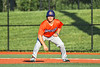 Cortland Crush Stephen Bennett (30) on base against the Syracuse Salt Cats in New York Collegiate Baseball League action at OCC Turf Field in Syracuse, New York on Wednesday, June 26, 2019. Syracuse won 7-2.