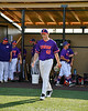 Cortland Crush Starting Pitcher Dylan Fashempour (42) being introduced before playing the Syracuse Salt Cats in a New York Collegiate Baseball League game at Gutchess Lumber Sports Complex in Cortland, New York on Monday, July 1, 2019.
