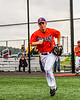 Cortland Crush Anthony Cieszko (3) being introduced before playing the Sherrill Silversmiths in a New York Collegiate Baseball League game at Gutchess Lumber Sports Complex in Cortland, New York on Thursday, July 12, 2019.