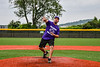 Throwing out the First Pitch before a New York Collegiate Baseball League game between the Cortland Crush and Sherrill Silversmiths at Gutchess Lumber Sports Complex in Cortland, New York on Thursday, July 12, 2019.