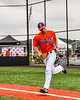 Cortland Crush Stephen Bennett (30) being introduced before playing the Sherrill Silversmiths in a New York Collegiate Baseball League game at Gutchess Lumber Sports Complex in Cortland, New York on Thursday, July 12, 2019.