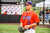 Cortland Crush Michael Viveiros (29) being introduced before playing the Sherrill Silversmiths in a New York Collegiate Baseball League game at Gutchess Lumber Sports Complex in Cortland, New York on Thursday, July 12, 2019.