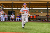 Cortland Crush Alex Babcock (33) being introduced before playing the Sherrill Silversmiths in a New York Collegiate Baseball League game at Gutchess Lumber Sports Complex in Cortland, New York on Thursday, July 21, 2019.