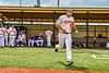 Cortland Crush Brad Nowak (35) being introduced before playing the Sherrill Silversmiths in a New York Collegiate Baseball League game at Gutchess Lumber Sports Complex in Cortland, New York on Thursday, July 21, 2019.