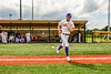 Cortland Crush Nicholas Pastore (1) being introduced before playing the Sherrill Silversmiths in a New York Collegiate Baseball League game at Gutchess Lumber Sports Complex in Cortland, New York on Thursday, July 21, 2019.