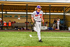 Cortland Crush Max Flock (12) being introduced before playing the Sherrill Silversmiths in a New York Collegiate Baseball League game at Gutchess Lumber Sports Complex in Cortland, New York on Thursday, July 21, 2019.