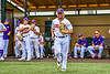 Cortland Crush Hayden Houts (5) being introduced before playing the Sherrill Silversmiths in a New York Collegiate Baseball League game at Gutchess Lumber Sports Complex in Cortland, New York on Thursday, July 21, 2019.