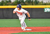 Cortland Crush Dylan Nolan (14) tags up and runs to Third Base against the Syracuse Salt Cats in New York Collegiate Baseball League playoff action at Gutchess Lumber Sports Complex in Cortland, New York on Thursday, July 24, 2019. Cortland won 1-0 in extra innings.