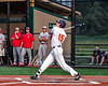 Cortland Crush Garrett Callghan (15) after hitting the ball against the Syracuse Salt Cats in New York Collegiate Baseball League playoff action at Gutchess Lumber Sports Complex in Cortland, New York on Thursday, July 24, 2019. Cortland won 1-0 in extra innings.
