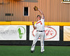 Cortland Crush Garrett Callghan (15) catches and throws the ball against the Syracuse Salt Cats in New York Collegiate Baseball League playoff action at Gutchess Lumber Sports Complex in Cortland, New York on Thursday, July 24, 2019. Cortland won 1-0 in extra innings.