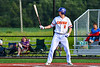 Cortland Crush Jack Lynch (2) at bat against the Syracuse Salt Cats in New York Collegiate Baseball League playoff action at Gutchess Lumber Sports Complex in Cortland, New York on Thursday, July 24, 2019. Cortland won 1-0 in extra innings.