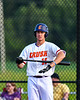 Cortland Crush Alex Flock (10) at bat against the Syracuse Salt Cats in New York Collegiate Baseball League playoff action at Gutchess Lumber Sports Complex in Cortland, New York on Thursday, July 24, 2019. Cortland won 1-0 in extra innings.