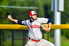 Syracuse Salt Cats Jack Dicenso (33) pitching against the Cortland Crush in New York Collegiate Baseball League playoff action at Gutchess Lumber Sports Complex in Cortland, New York on Thursday, July 24, 2019. Cortland won 1-0 in extra innings.