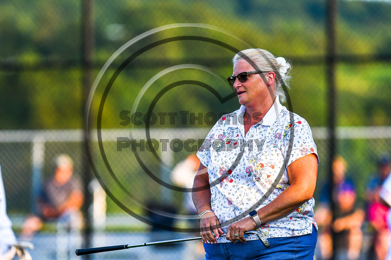 Cortland Crush fan participating in the $10,000 Hole-in-One promotion during a New York Collegiate Baseball League playoff game at Gutchess Lumber Sports Complex in Cortland, New York on Thursday, July 24, 2019.