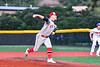 Syracuse Salt Cats Patrick Miner (16) pitching against the Cortland Crush in New York Collegiate Baseball League playoff action at Gutchess Lumber Sports Complex in Cortland, New York on Thursday, July 24, 2019. Cortland won 1-0 in extra innings.