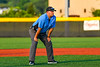 Infield Umpire during a New York Collegiate Baseball League playoff game between the Syracuse Salt Cats and Cortland Crush at Gutchess Lumber Sports Complex in Cortland, New York on Thursday, July 24, 2019.