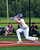 Cortland Crush Jack Lynch (2) bunts the ball against the Syracuse Salt Cats in New York Collegiate Baseball League playoff action at Gutchess Lumber Sports Complex in Cortland, New York on Thursday, July 24, 2019. Cortland won 1-0 in extra innings.