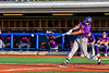 Cortland Crush Garrett Callghan (15) hits the ball against the Syracuse Salt Cats in New York Collegiate Baseball League playoff action at OCC Turf Field in Syracuse, New York on Thursday, July 25, 2019. Cortland won 3-1.