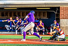 Cortland Crush Drew Boli (40) hits the ball against the Syracuse Salt Cats in New York Collegiate Baseball League playoff action at OCC Turf Field in Syracuse, New York on Thursday, July 25, 2019. Cortland won 3-1.