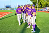 Cortland Crush players after warming up for a New York Collegiate Baseball League playoff game against the Syracuse Salt Cats at OCC Turf Field in Syracuse, New York on Thursday, July 25, 2019.