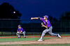 Cortland Crush Jimmy Tatum (17) pitching against the Syracuse Salt Cats in New York Collegiate Baseball League playoff action at OCC Turf Field in Syracuse, New York on Thursday, July 25, 2019. Cortland won 3-1.