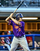 Cortland Crush Alex Babcock (33) at bat against the Syracuse Salt Cats in New York Collegiate Baseball League playoff action at OCC Turf Field in Syracuse, New York on Thursday, July 25, 2019. Cortland won 3-1.