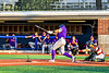 Cortland Crush Drew Boli (40) hitting the ball against the Syracuse Salt Cats in New York Collegiate Baseball League playoff action at OCC Turf Field in Syracuse, New York on Thursday, July 25, 2019. Cortland won 3-1.