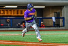 Cortland Crush Dylan Nolan (14) running the bases against the Syracuse Salt Cats in New York Collegiate Baseball League playoff action at OCC Turf Field in Syracuse, New York on Thursday, July 25, 2019. Cortland won 3-1.