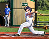 Cortland Crush Anthony Cieszko (3) after hitting the ball against the Niagara Power in New York Collegiate Baseball League playoff action at Gutchess Lumber Sports Complex in Cortland, New York on Saturday, July 27, 2019. Niagara won 10-6.