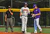 Cortland Crush Garrett Callghan (15) reaches First Base against the Niagara Power in New York Collegiate Baseball League playoff action at Gutchess Lumber Sports Complex in Cortland, New York on Saturday, July 27, 2019. Niagara won 10-6.