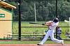 Cortland Crush Alex Flock (10) hits the ball against the Niagara Power in New York Collegiate Baseball League playoff action at Gutchess Lumber Sports Complex in Cortland, New York on Saturday, July 27, 2019. Niagara won 10-6.