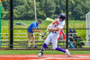 Cortland Crush Nicholas Pastore (1) hits the ball against the Niagara Power in New York Collegiate Baseball League playoff action at Gutchess Lumber Sports Complex in Cortland, New York on Saturday, July 27, 2019. Niagara won 10-6.