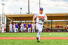 Cortland Crush Anthony Cieszko (3) being introduced before playing the Niagara Power in the first game of the New York Collegiate Baseball League Championship Series at Gutchess Lumber Sports Complex in Cortland, New York on Saturday, July 27, 2019.