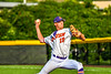 Cortland Crush Jonathan Triesler (19) pitching against the Niagara Power in New York Collegiate Baseball League playoff action at Gutchess Lumber Sports Complex in Cortland, New York on Saturday, July 27, 2019. Niagara won 10-6.