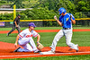 Cortland Crush Stephen Bennett (30) playing Third Base against the Niagara Power in New York Collegiate Baseball League playoff action at Gutchess Lumber Sports Complex in Cortland, New York on Saturday, July 27, 2019. Niagara won 10-6.