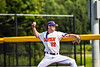 Cortland Crush Maxx Kies (22) pitching against the Niagara Power in New York Collegiate Baseball League playoff action at Gutchess Lumber Sports Complex in Cortland, New York on Saturday, July 27, 2019. Niagara won 10-6.