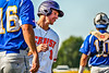 Cortland Crush Alex Flock (10) after scoring a run against the Niagara Power in New York Collegiate Baseball League playoff action at Gutchess Lumber Sports Complex in Cortland, New York on Saturday, July 27, 2019. Niagara won 10-6.