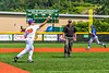 Cortland Crush Stephen Bennett (30) throwing the ball for an out against the Niagara Power in New York Collegiate Baseball League playoff action at Gutchess Lumber Sports Complex in Cortland, New York on Saturday, July 27, 2019. Niagara won 10-6.