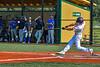 Cortland Crush Alex Flock (10) hits the ball against the Niagara Power in New York Collegiate Baseball League playoff action at Gutchess Lumber Sports Complex in Cortland, New York on Saturday, July 27, 2019. Niagara won 10-6.