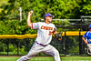Cortland Crush Ryan Reicoff (38) pitching against the Niagara Power in New York Collegiate Baseball League playoff action at Gutchess Lumber Sports Complex in Cortland, New York on Saturday, July 27, 2019. Niagara won 10-6.