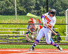 Cortland Crush Hayden Houts (5) swinging at a pitch against the Niagara Power in New York Collegiate Baseball League playoff action at Gutchess Lumber Sports Complex in Cortland, New York on Saturday, July 27, 2019. Niagara won 10-6.